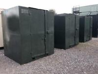 3 no 6' x 6'x 6' Container with lockbox
