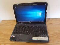 "Acer Aspire 5735, Intel Core2Duo, 3GB RAM, 250GB HDD, 15.6"", Webcam, WIFI, DVD, Windows 10"