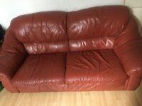 Brick Red Sofa Set
