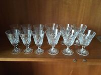 Crystal glassware - wine and sherry