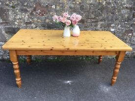 Gorgeous solid pine large farmhouse table