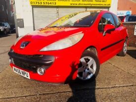 2006 PEUGEOT 207 **RED**1.4 PETROL*WARRANTED MILEAGE* 12 MONTHS MOT**HPI CLEAR