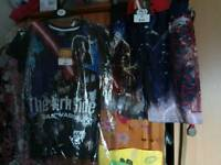Star wars t-shirt and swim shorts age 11-12