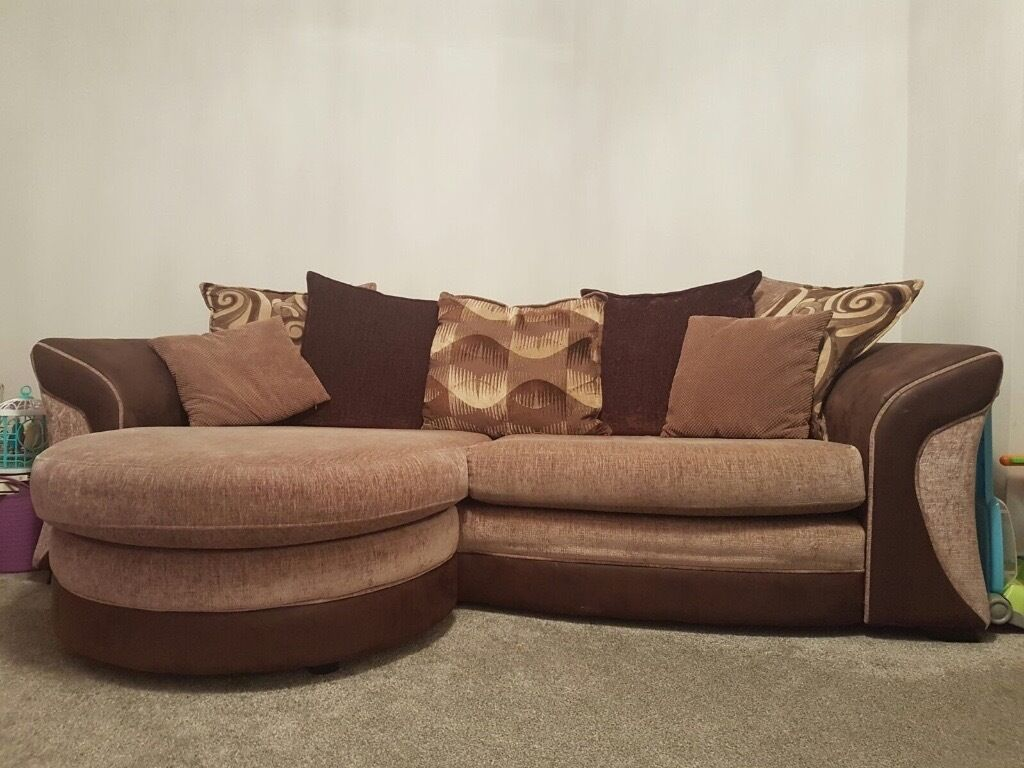 Dfs Chocolate Brown 4 Seater Sofa And 2 Seater Sofa Bed