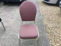 Stacking chairs hotel quality salmon cloth