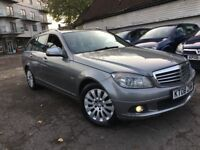 MERCEDES C CLASS C220 DIESEL 2.1 ELEGANCE AUTOMATIC ESTATE 2008 MINT HEATED LEATHERS PARKING SENSOR
