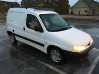 PEUGEOT PARTNER 2001 VAN. MOT. ROOF RACK. TOWBAR. READY FOR WORK. TIDY. GOOD CONDITION. ECONOMICAL.