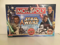 STAR WARS EPISODE 2 MONOPOLY BOARD GAME, GREAT CONDITION