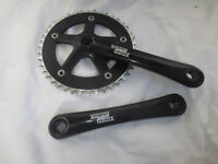 Strumley Archer 42T Bicycle Crank, ideal for fixi or hub gear