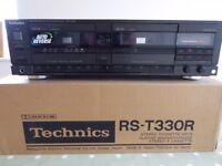 Technics RS-T330R stereo double cassette deck (HiFi separates - black)