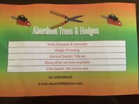 aberdeen trees, hedges and gardens . Best prices free quate . Many services available