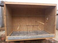 Budgie Breeding Cage, includes perches, nest box and pull-out tray for ease of cleaning.