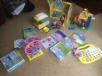 Peppa Pig House, Ferris Wheel and Playset