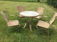 Very pretty Somerset Willow glass topped table and 4 chairs