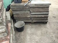 Used paving slabs stepping stones etc