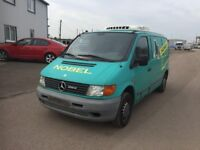 LEFT HAND DRIVE MERCEDES BENZ VITO,COLD ROOM,GOOD LOAD SPACE,ENGINE & MECHANICS,PAPER SORTED.CALL ME