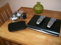 Sky Router, Sky Box with 2 remote controls and all cables