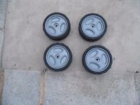 4 x plastic lawn mower wheels