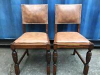 A pair of oak dining chairs FREE DELIVERY PLYMOUTH AREA