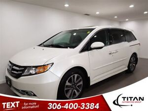 2014 Honda Odyssey Touring DVD Cam Heated Leather 8 Pass