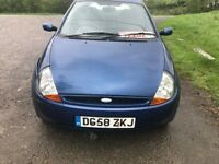 FORD KA BLUE SPORT 2008 PLATE 58 LOW MILEAGE 77K
