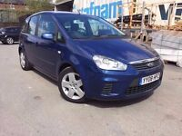 08 plate Ford C Max - 1.6 petrol- full service history 1 owner - 8 months mot