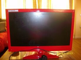 RED ALBA 19INCH TV AND DVD COMBO PERFECT CONDITION