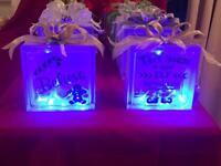 Beautiful Christmas Glass Blocks