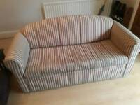 Stripey sofa bed for sale