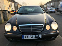 2002 mercedes e280 auto black new mot leather setas/ bmw 318/bmw 520/audi a4/audi a6/toyota avensis