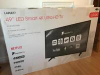 "49"" logik tv with Panasonic speaker brand new in box"