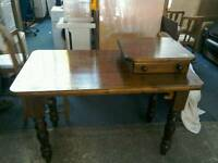 Wooden desk with drawer on top #27964 £69