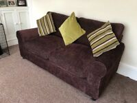 Argos 2 Seater Tessa Fabric Sofa Bed in chocolate