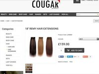 Cougar clip in hair extensions