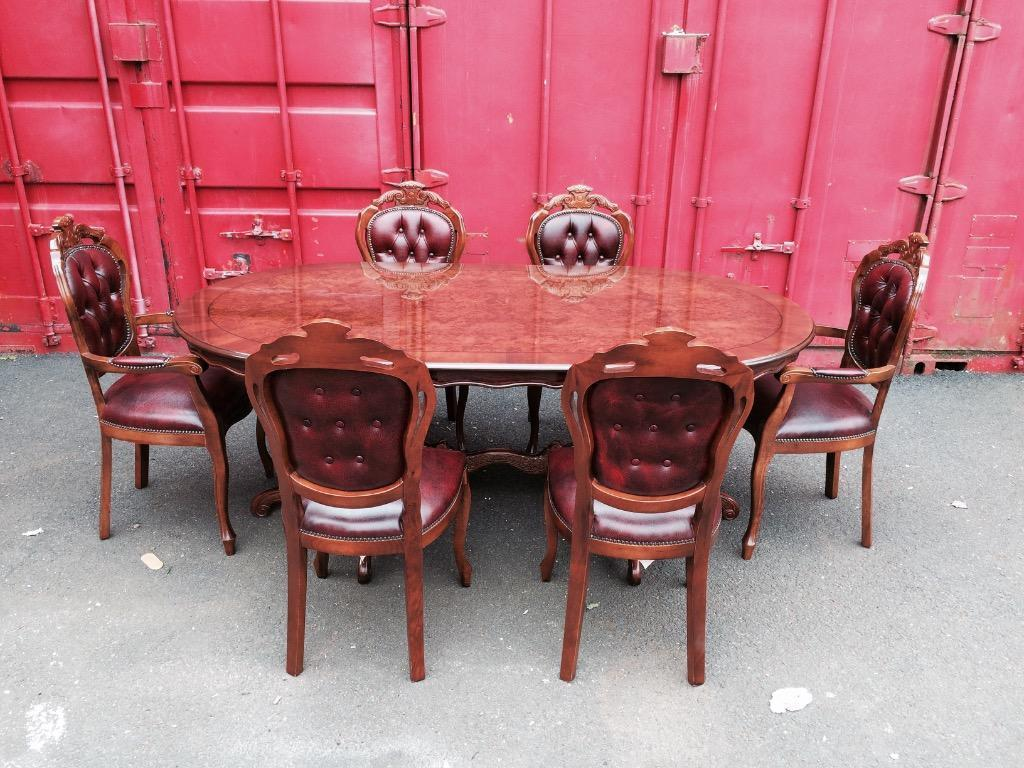 table and 6 chesterfield chairs in barrhead glasgow gumtree