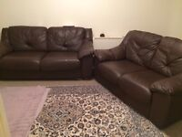 3seater and 2seater leather sofa