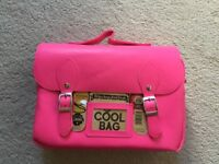 Kids pink lunch bag / box
