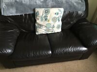 2xsofas brown leather a 3 and 2 seater