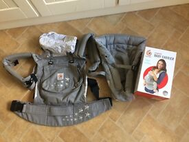 Ergobaby galaxy grey baby carrier. Excellent condition with box. Plus newborn insert.