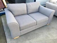 Grey 2 Seater fabric Sofa (New Ex Display)