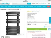 Bathstore Scuro 800 towel radiator - BNIB