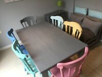 Table and 6 Chairs in Vintage Shabby Chic Style - Quick sell