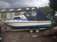 1989 tremlett 21 3.0 130bhp sportmans power motor boat with trailer