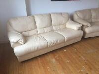 USED Cream 3 seater and 2 seater sofas £50 ONO