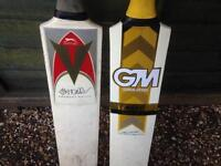 Cricket bats - two off - suitable for kids to have fun with