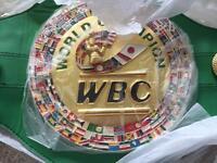 WBC boxing world title belt