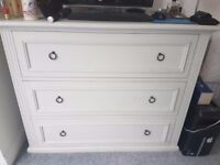 Set of White Company (London) Chest of Drawers and two Bedside Tables
