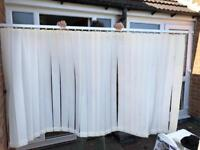 Set of bay window vertical blinds (only centre blind pictured) cream colour