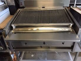 CATERING COMMERCIAL ARCHWAY CHARCOAL GRILL 3 BURNER FAST FOOD KITCHEN BBQ SHOP KEBAB CHICKEN BAR