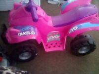 Pink electric quad